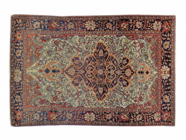 316: AN ANTIQUE PERSIAN FARAHAN SAROUK, Late 1800s