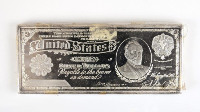 15: ONE TROY POUND OF SILVER - $5 SILVER CERTIFICATE