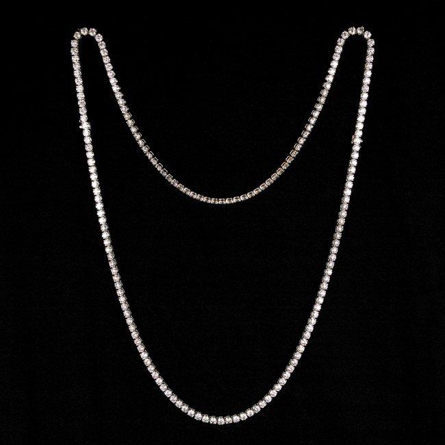 40: 18KT 56.50 CT DIAMOND RIVIERA NECKLACE