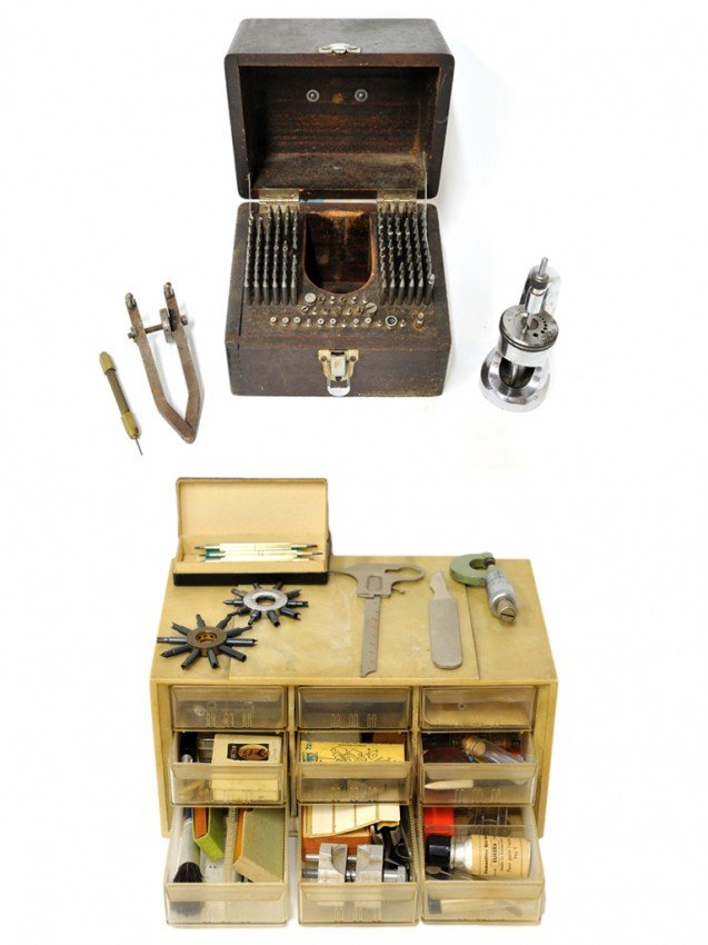 15: A WATCH MAKER'S STAKING TOOL AND EQUIPMENT