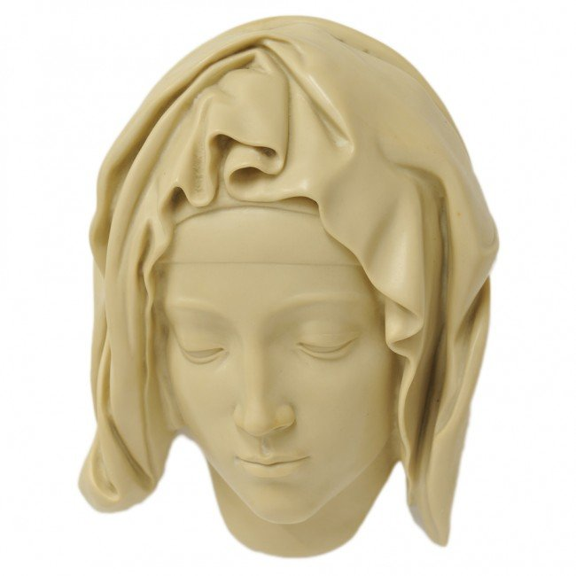 """23: A """"HEAD OF THE VIRGIN"""" COMPOSITE CARVED PIECE FROM"""