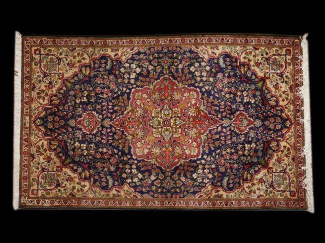 121: AN IRAN TABRIZ RUG - Signed Ghafari 5 ft x 8 ft 1
