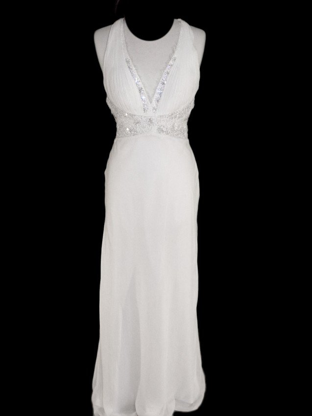 9: WEDDING GOWN by Faviana Size 12 Style Name/Number: R