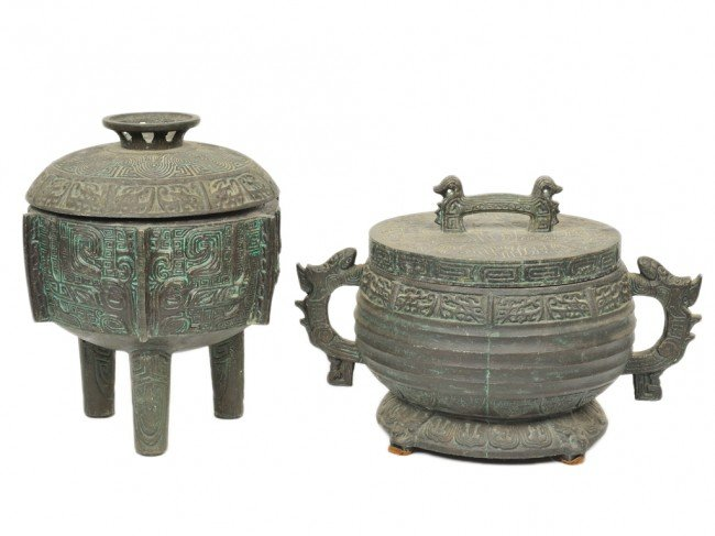 15: A GROUP OF TWO ORIENTAL POTS