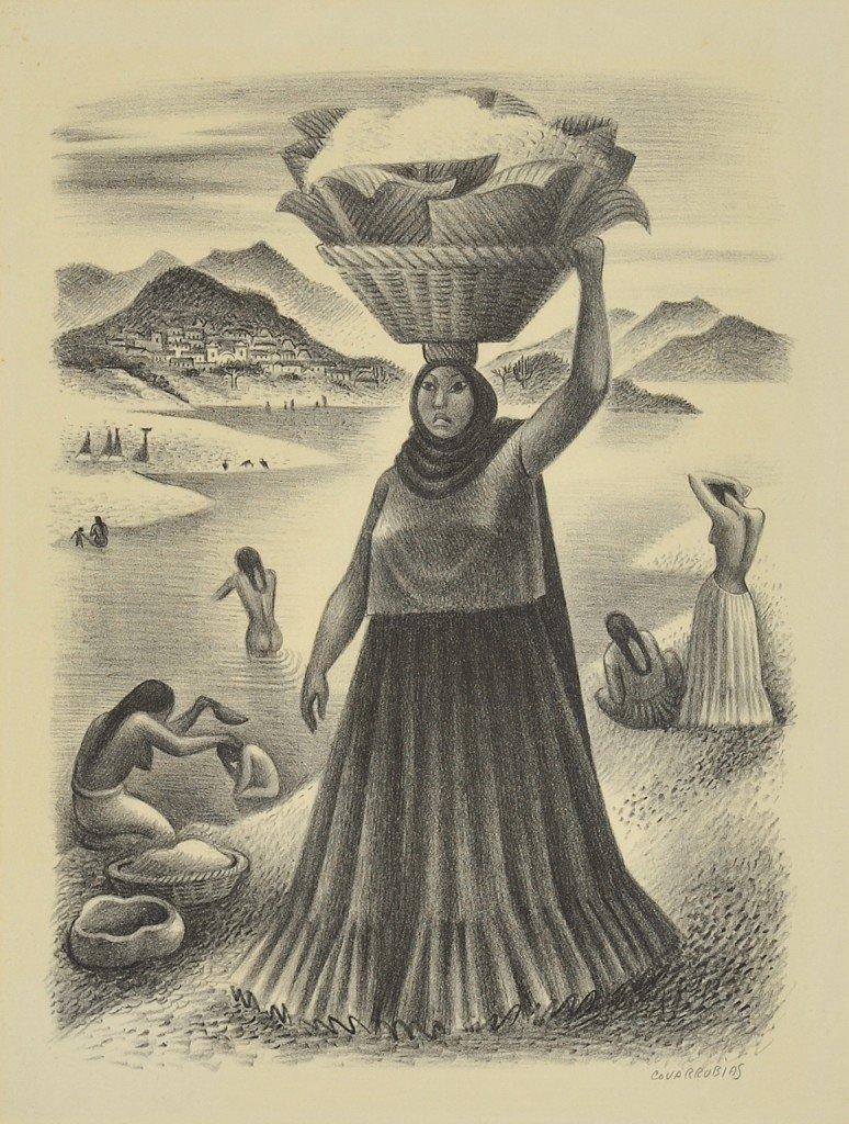 1: MIGUEL COVARRUBIAS, (Mexican, 1904-1957), Tehauntepe