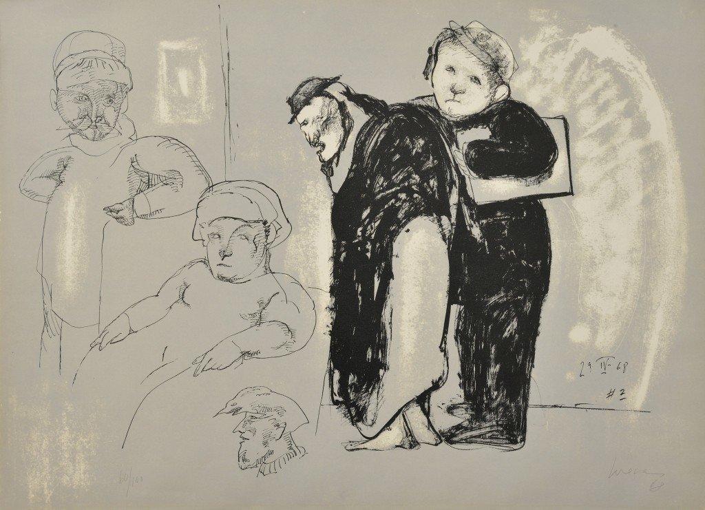 6: JOSÉ LUIS CUEVAS, (Mexican, b. 1934), 4 Figures and