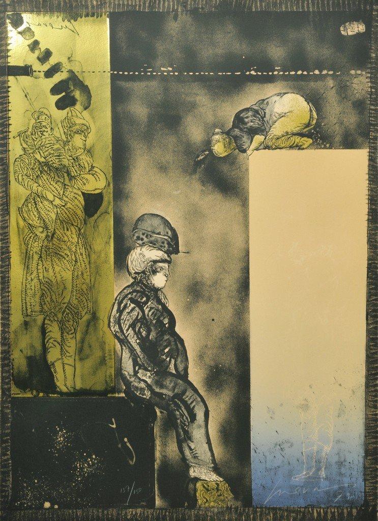 7: JOSÉ LUIS CUEVAS, (Mexican, b. 1934), Tower of Babel