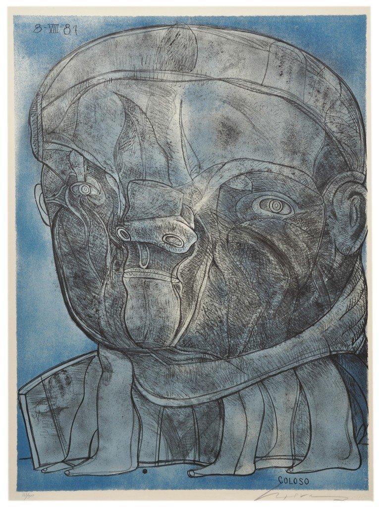 8: JOSÉ LUIS CUEVAS, (Mexican, b. 1934), Coloso, 1981 F