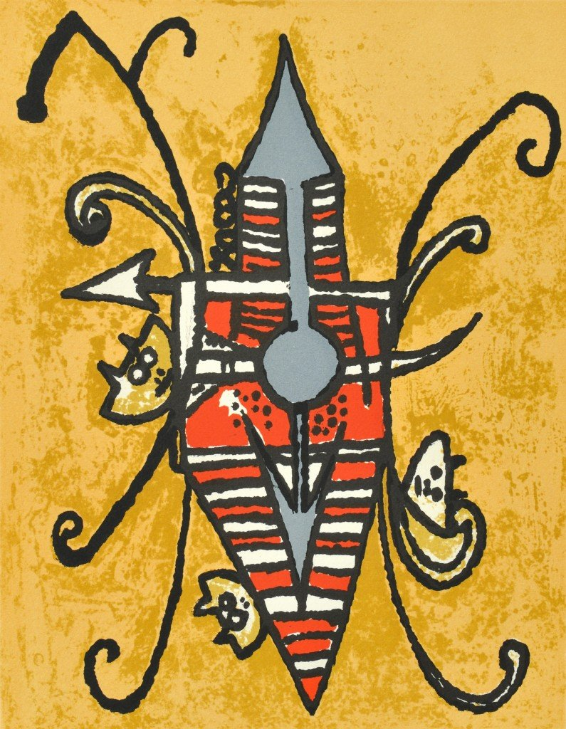 16: WILFREDO LAM, (Cuban, 1900-1976), Shield, Lithograp