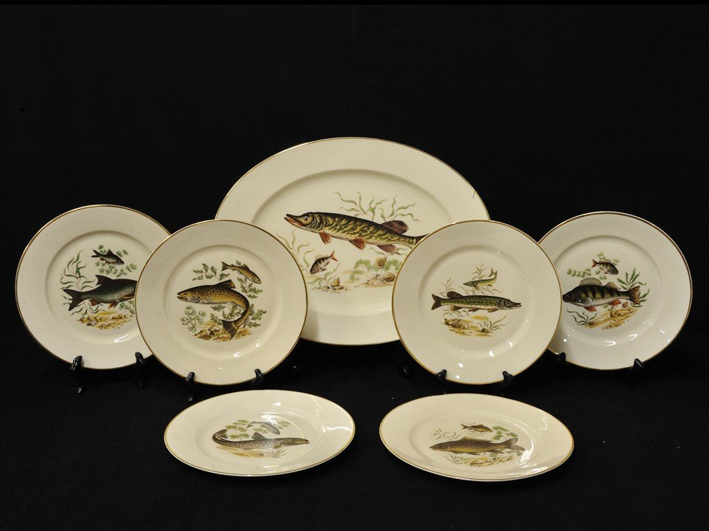 4: A ROSENTHAL PORCELAIN FISH SERVICE, Selb, West Germa