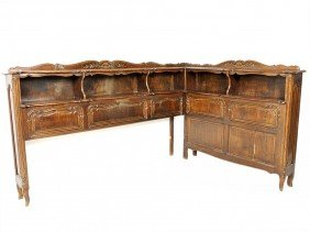 6: A COUNTRY FRENCH OAK CORNER CABINET 19th Century
