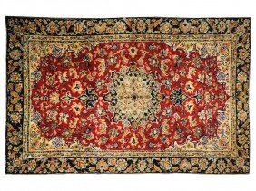 17: A PERSIAN ESFAHAN RUG 7 ft 2 in x 10 ft 1 in