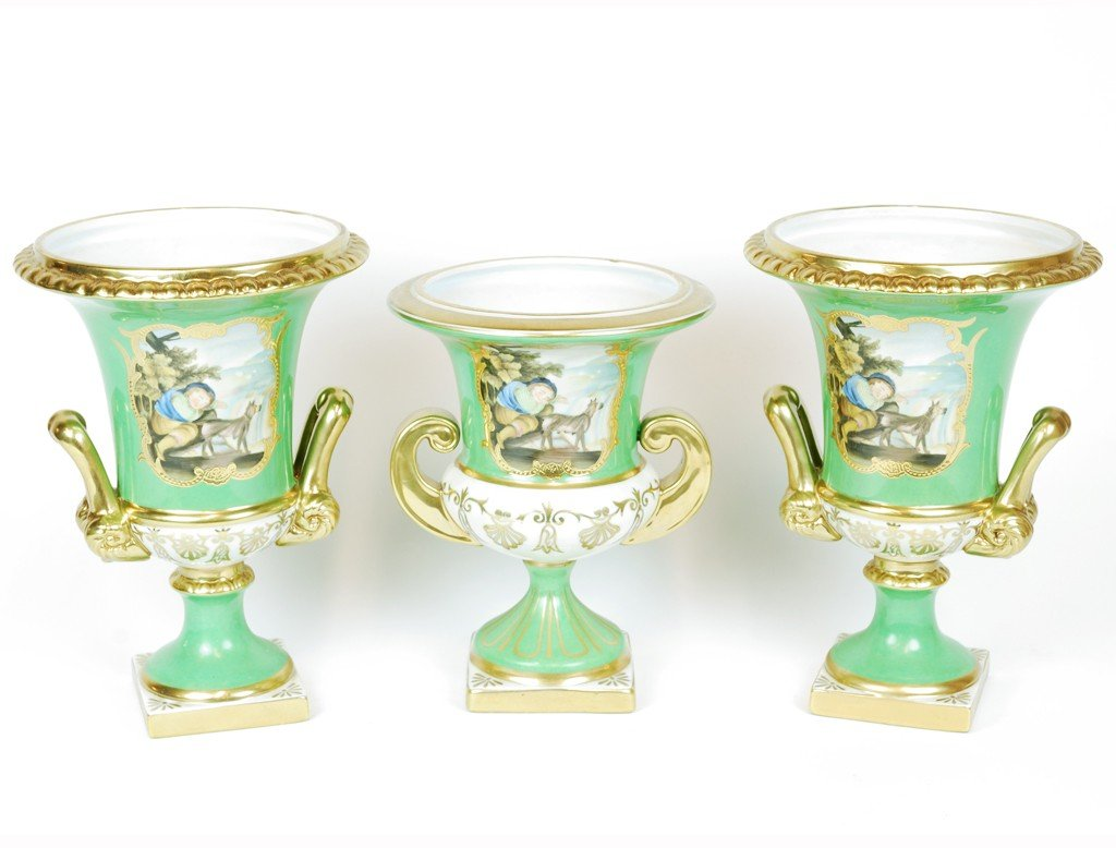 THREE FRENCH STYLE URNS 3 pieces