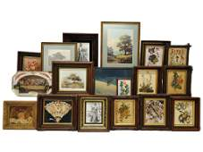 4 A LOT INCLUDING MISCELLANEOUS PRINTS AND DECORATIVE