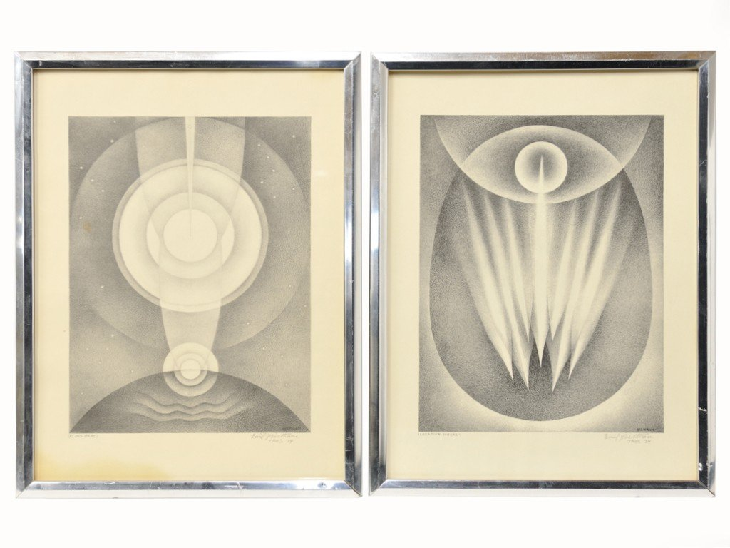 1: A PAIR OF LITHOGRAPHS BY EMIL BISTTRAM (1895-1976)