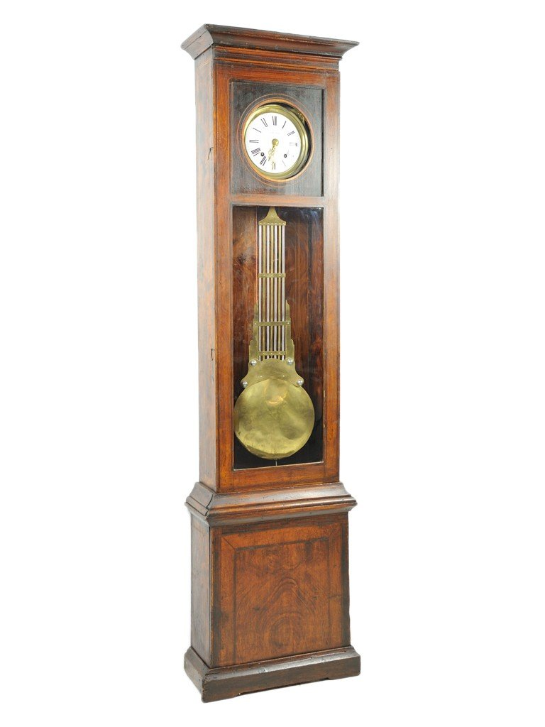 17: A FRENCH PINE GRANDFATHER CLOCK 19th Century
