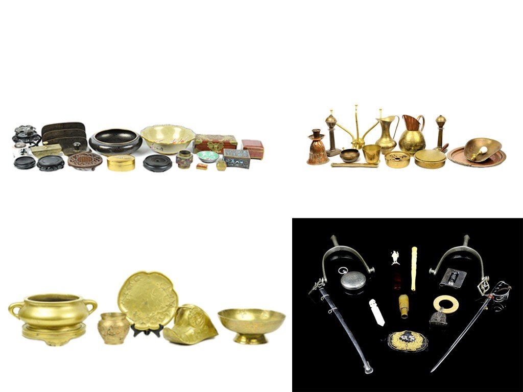 3: A LOT OF MISCELLANEOUS COPPER AND BRASS PIECES, ASIA