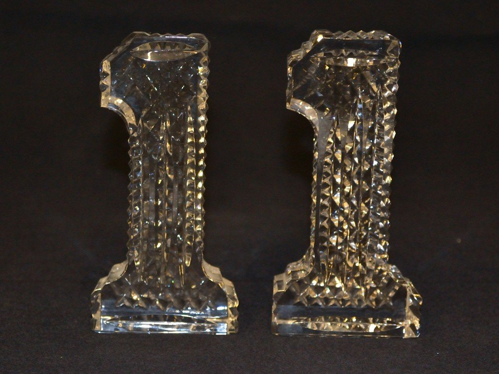 4: A PAIR OF WATERFORD CRYSTAL STATUES