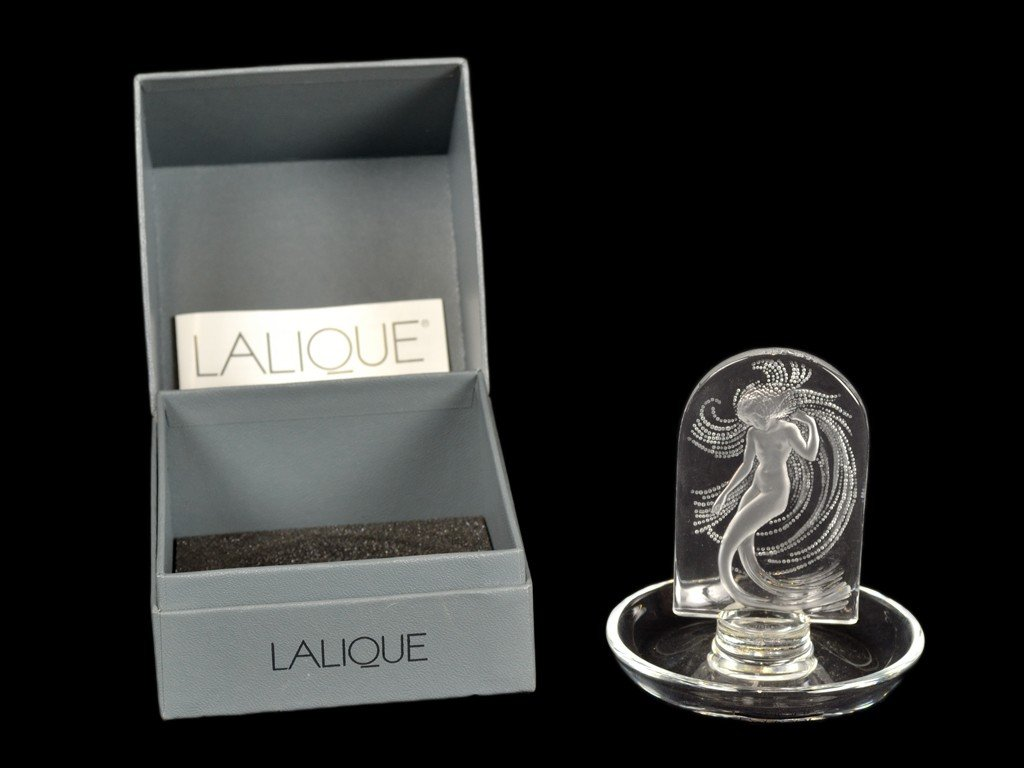 10: A LALIQUE ONDINES ART DECO NUDE MERMAID RING DISH