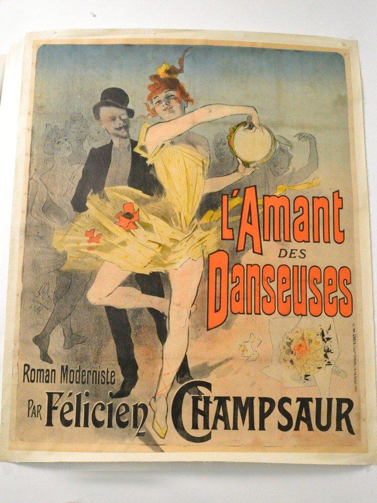 "80: A FRENCH POSTER ""L'AMANT DES DANSEUSES"" BY JULES CH"