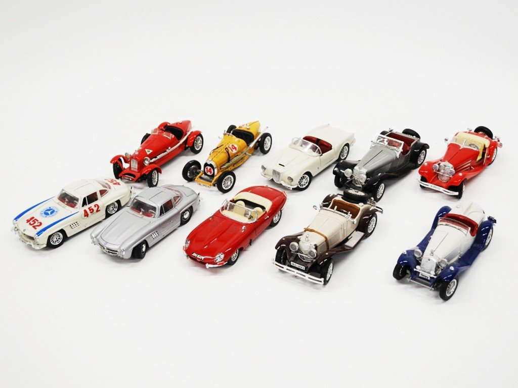 2: A GROUP OF TEN MODEL CARS