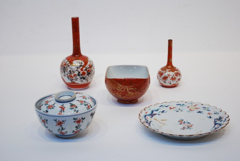 2: A LOT OF 5 CHINESE & JAPANESE PORCELAIN ITEMS
