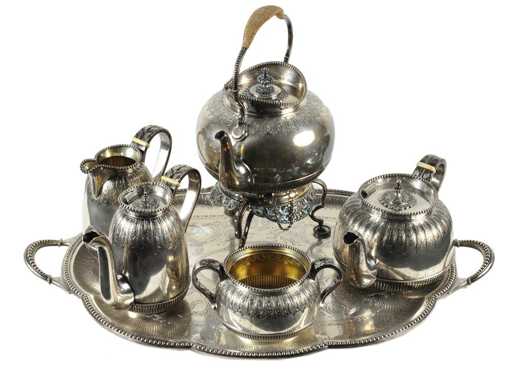 22: AN AUSTRIAN STERLING SILVER TEA AND COFFEE SERVICE