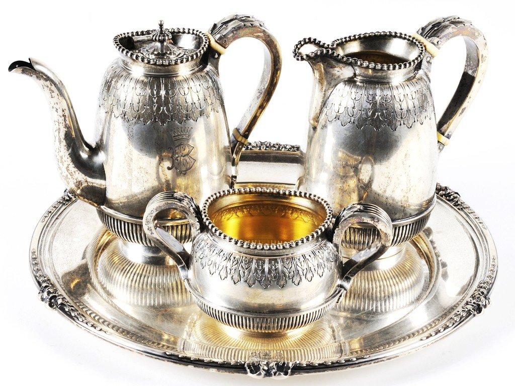24: AN AUSTRIAN SILVER COFFEE SET
