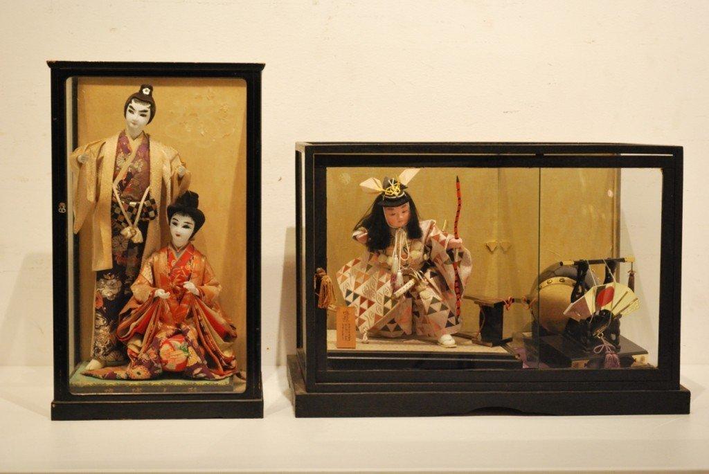 14: A VINTAGE JAPANESE BOXED SAMURAI FIGURE