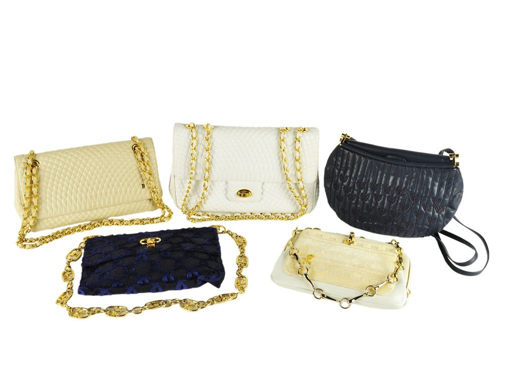 2: LOT OF FIVE COUTURE PURSES