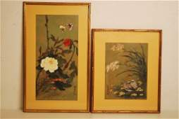 84 A PAIR OF CHINESE WATERCOLORS BY HUI CHI MAU