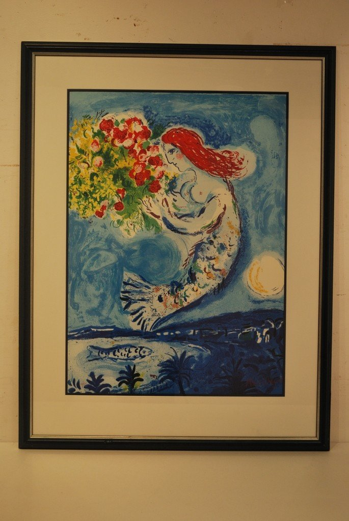 95D: MARC CHAGALL, LIMITED EDITION SIGNED LITHOGRAPH, 2
