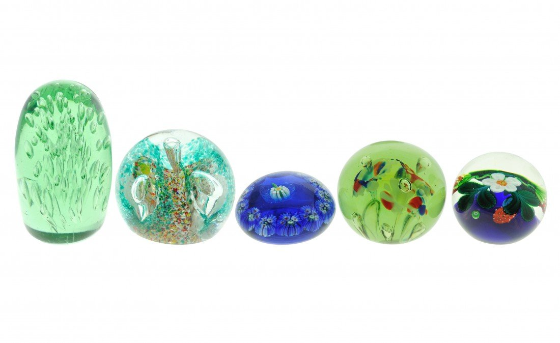 4A: A GROUP OF PAPERWEIGHTS