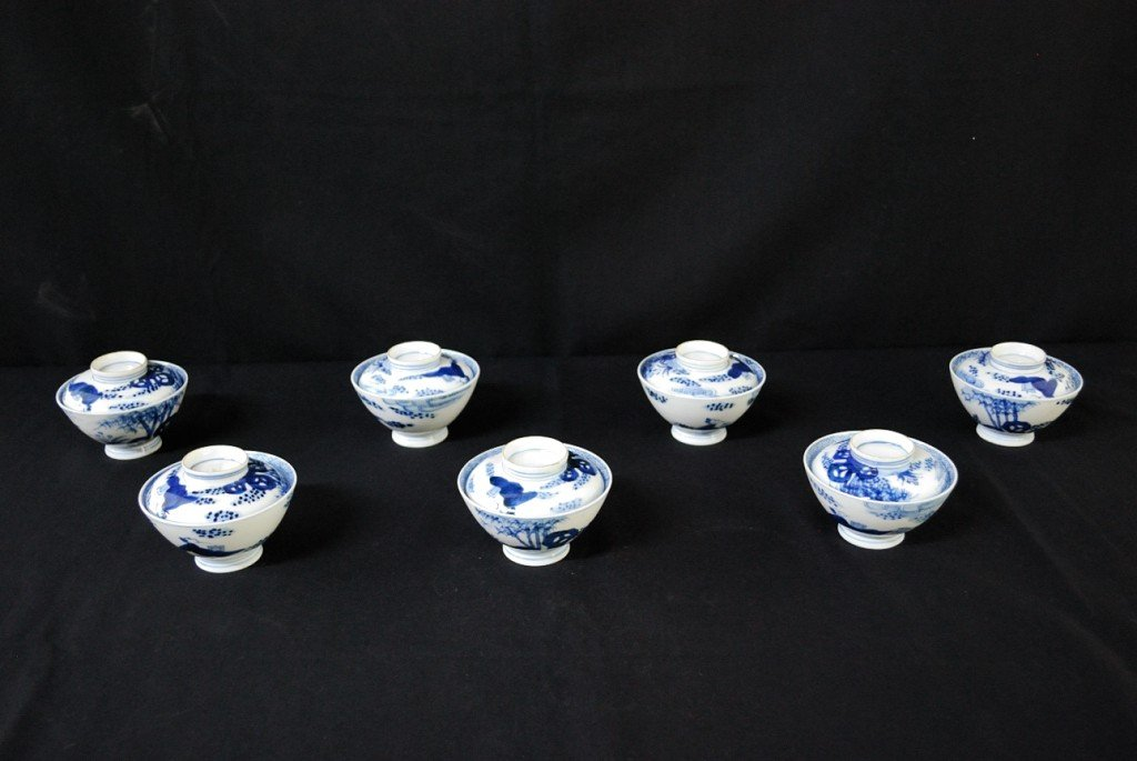 7: A GROUP OF MODERN CHINESE PORCELAIN TEA BOWLS