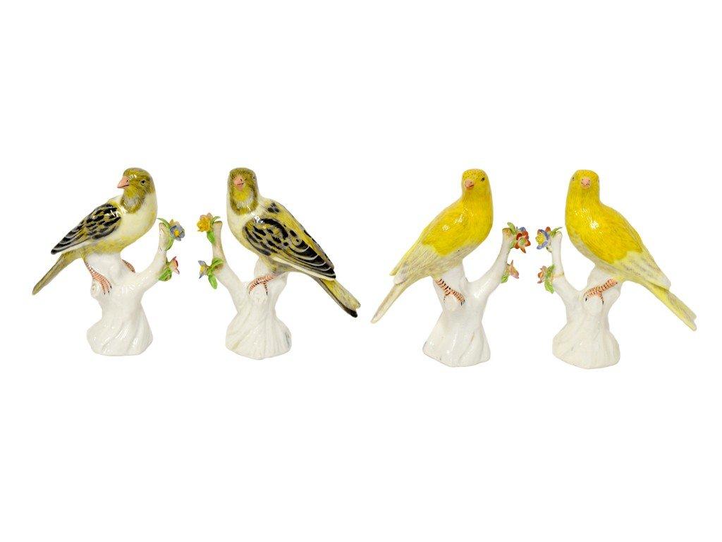 4: A QUARTET OF FINE PORCELAIN BIRD FIGURINES