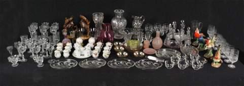 13B: A LARGE GROUP OF MISCELLANEOUS PORCELAIN & GLASS D