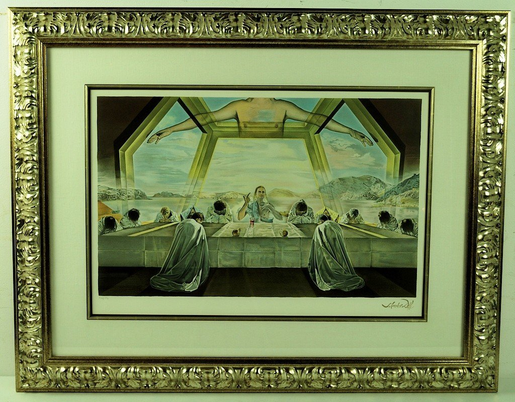 A DECORATIVE LAST SUPPER LITHOGRAPH BY SALVADOR DALI