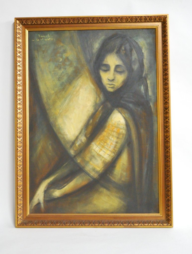 19: Vanet, OIL PAINTING OF A WOMAN