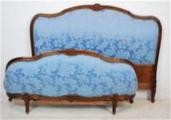 212: A LOUIS XV STYLE UPHOLSTERED DOUBLE BED