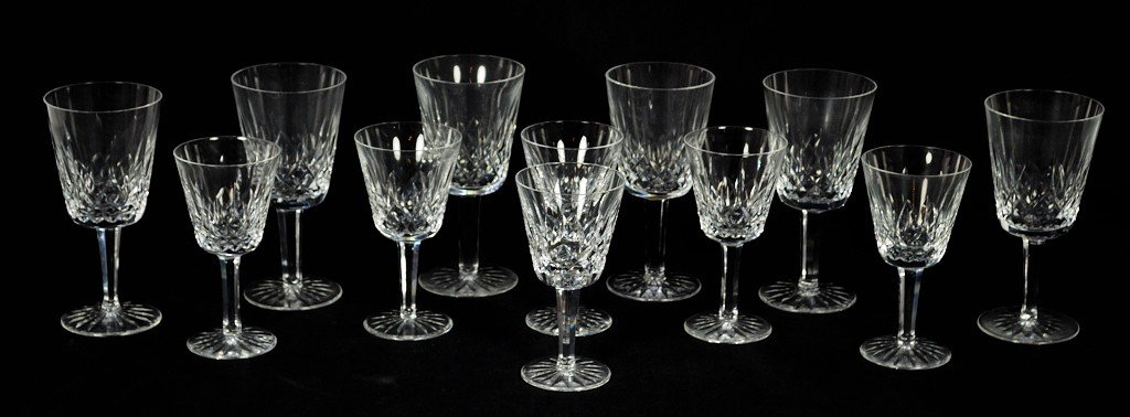 6: 12 PIECE SET OF WATERFORD GLASSWARE