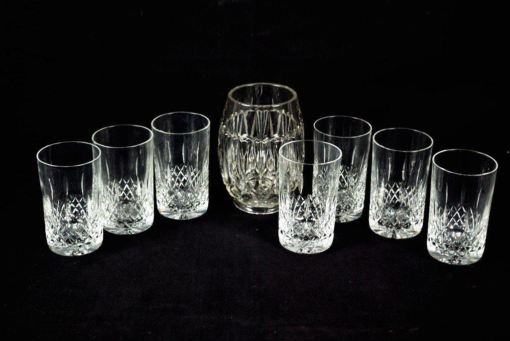 8: ASSORTMENT OF GLASSWARE 8 pieces