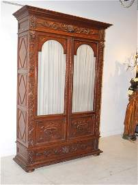 279: A HEAVELY CARVED OAK BLACK FOREST BOOKCASE 19th Ce
