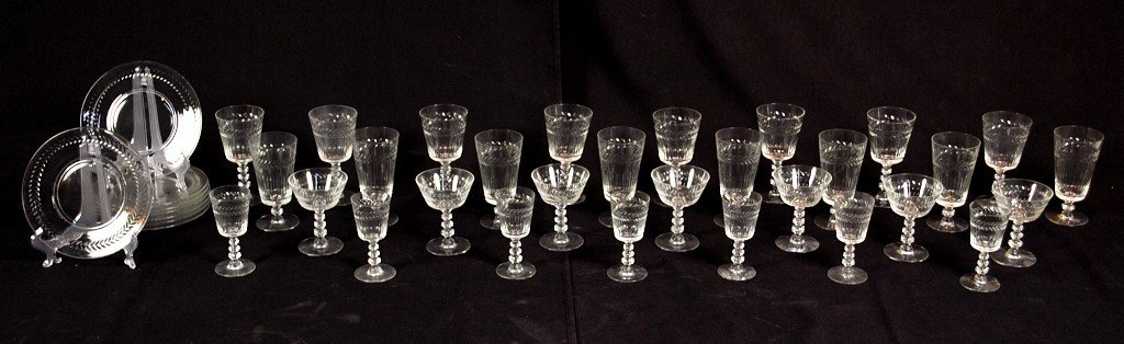 2: GROUP OF VINTAGE GLASSWARE A total of 38 pieces