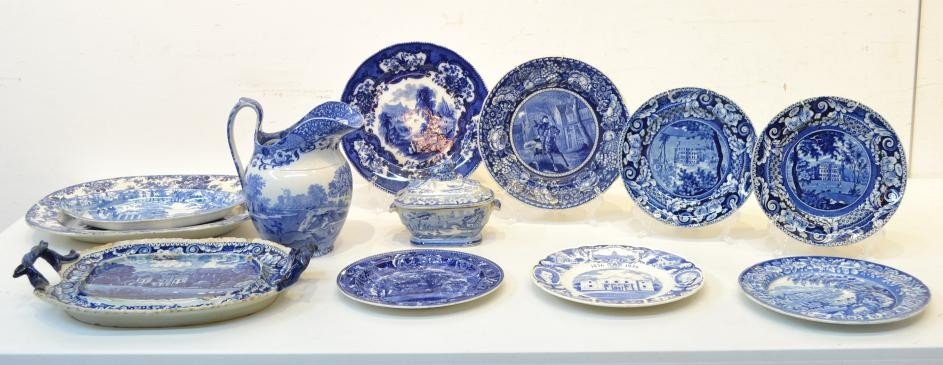 3: A COLLECTION OF DECORATIVE STAFFORDSHIRE DINNERWARE