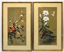 36 PAIR OF CHINESE WATERCOLOR ART
