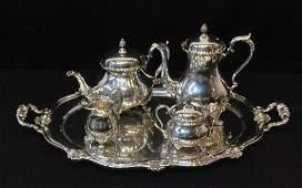 82: INTERNATIONAL WILCOX DU BARRY TEA AND COFFEE SET WI