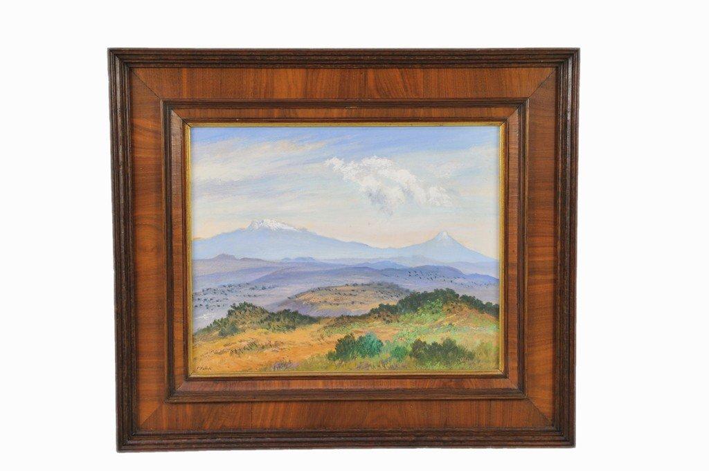 """6: FELICIANO PENA, (Mexican, 1915-1982), """" Los Volcanes"""