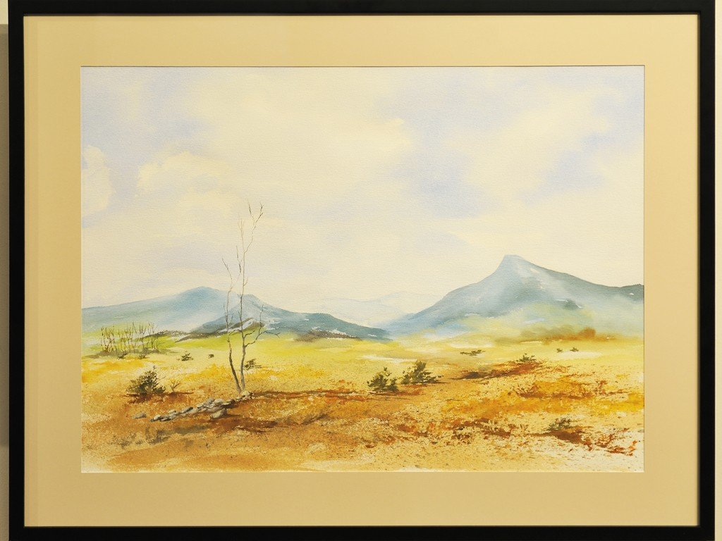 148: RIVERS (American, 20th Century), Watercolor on