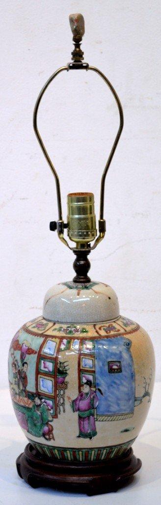 19: VINTAGE ASIAN ORIENTAL GINGER JAR LAMP