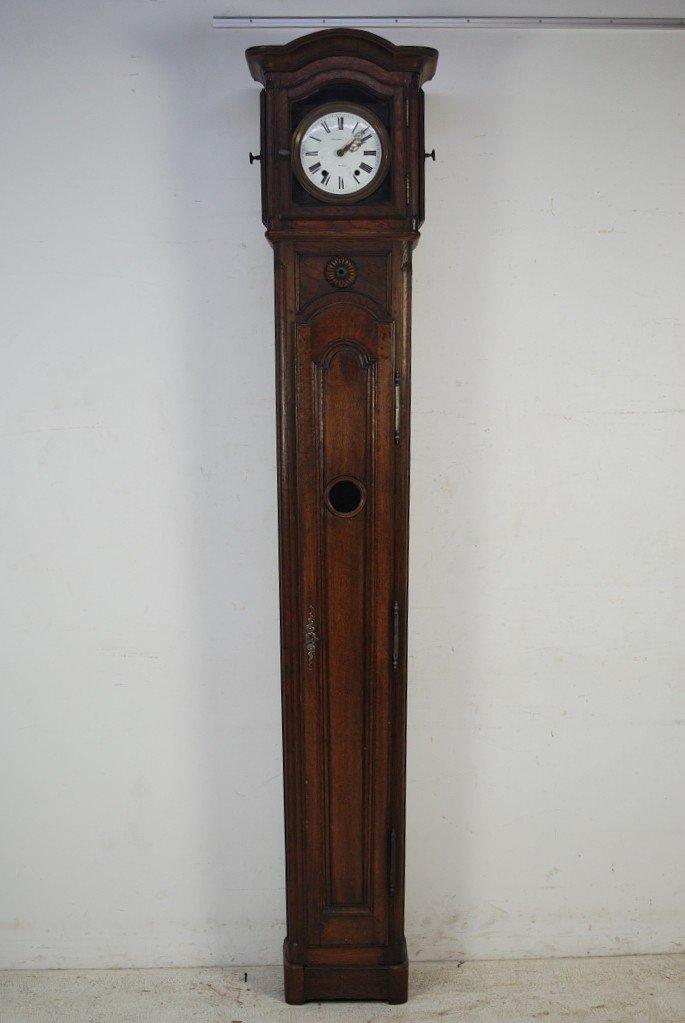 123: FRENCH WALNUT GRANDFATHER CLOCK